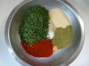 Parsley, Garlic, Thyme, Pink Salt, Paprika, White Pepper and Salt