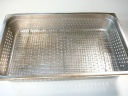 Perforated pan with a rack