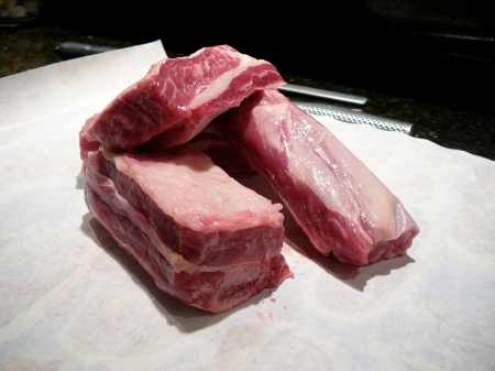 Long cut bone-in short rib from Prather Ranch